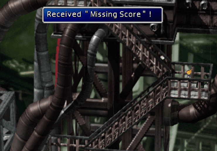 Picking up Barret's Ultimate Weapon, Missing Score