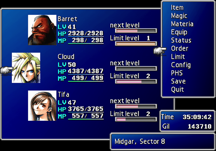 Adding Barret to your party