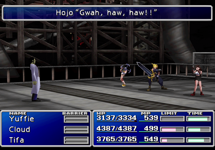 Boss Battle against Hojo