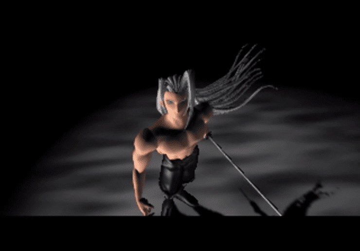 Sephiroth during the final battle
