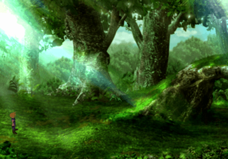 Fist Screen in the Ancient Forest