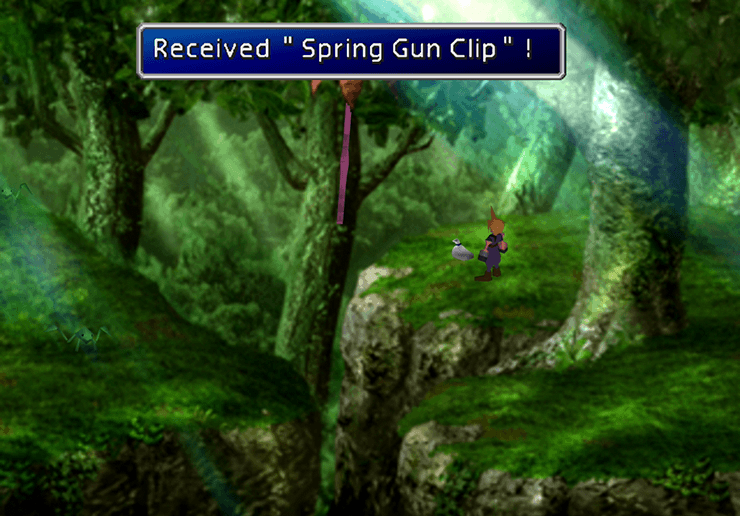 Picking up the Spring Gun Clip in the Ancient Forest