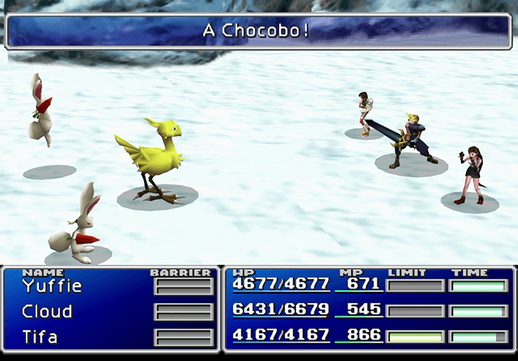 Wonderful Chocobo with a Jumping enemy