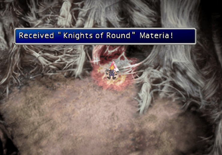 Knights of the Round Materia Cave