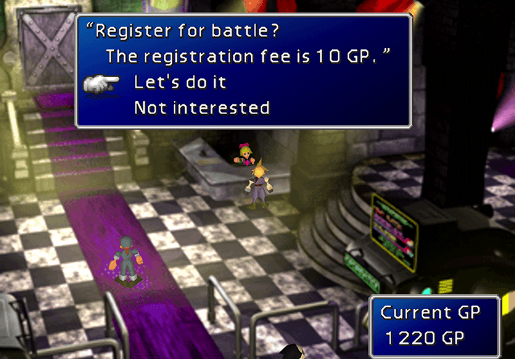 Registering for the Battle Square fight