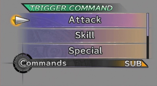 A view of the Trigger Command option available