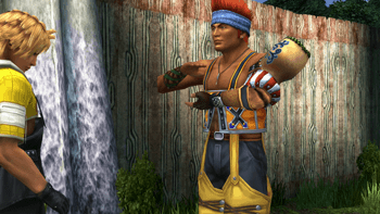 Wakka performing the prayer