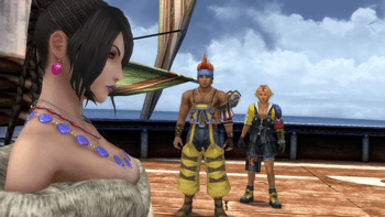 Lulu, Wakka and Tidus on the S.S. Liki