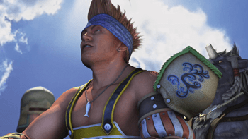 Wakka during the wedding cinematic in Bevelle
