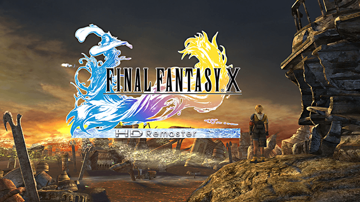 The title screen for the HD remaster of Final Fantasy X