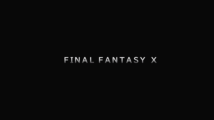 Final Fantasy X label start of game