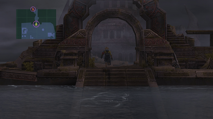 Tidus at the entrance to the ruins