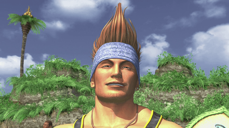 Wakka on the beaches of Besaid Island
