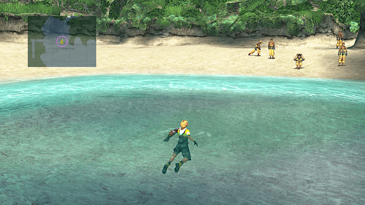 Tidus out in the beaches of Besaid