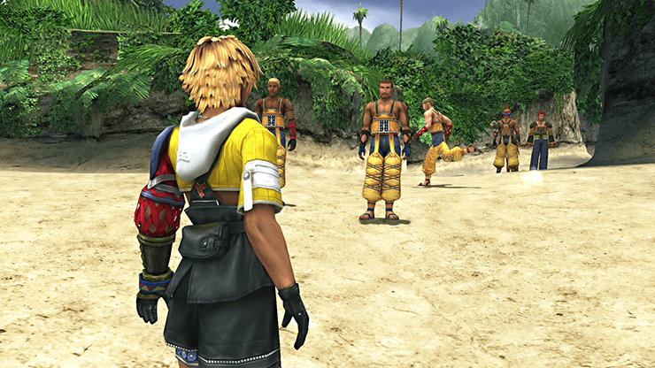Tidus following Wakka