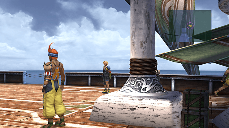Tidus and Wakka on the S.S. Liki