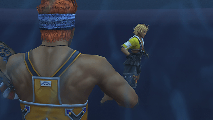 Tidus and Wakka battling against Echuilles