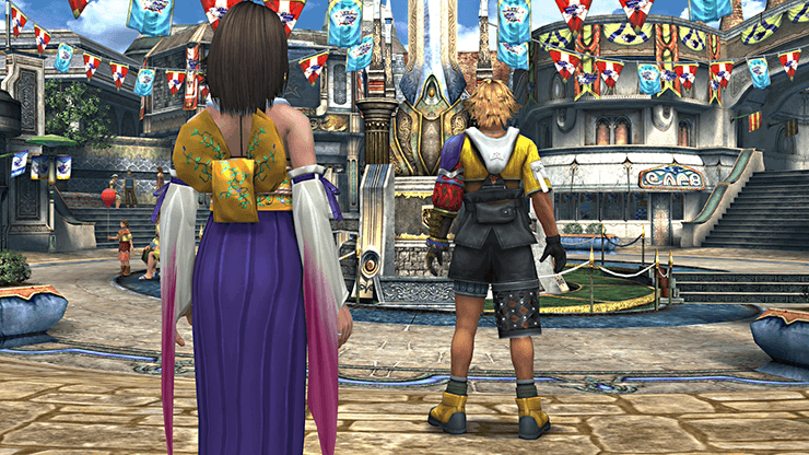Tidus and Yuna in Luca Square