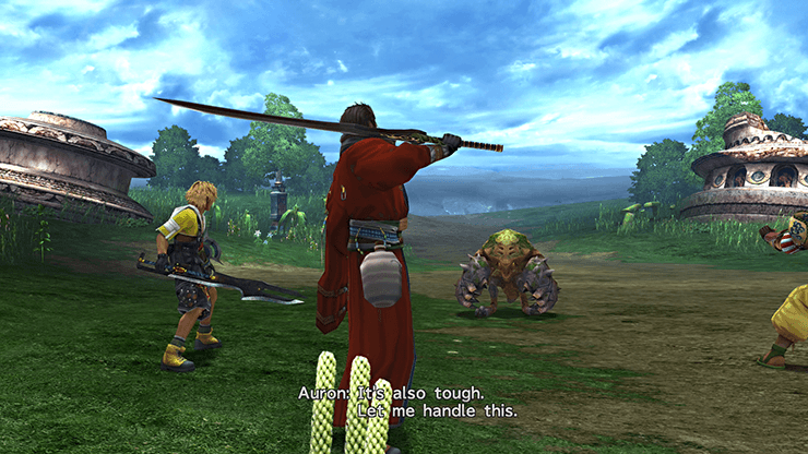 Auron demonstrating armor piercing