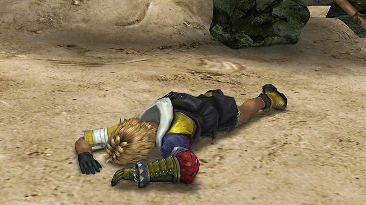 Tidus after the battle at Mushroom Rock