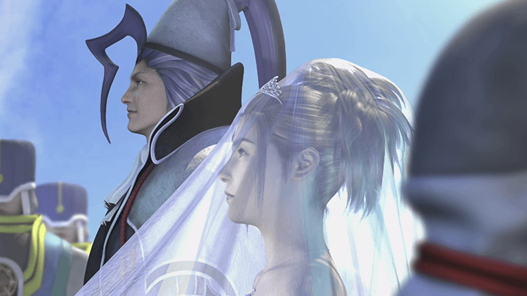 Wedding of Seymour and Yuna in Bevelle