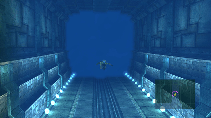 Tidus in the back of the Underwater Via Purifico