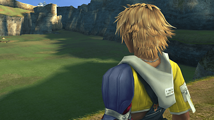 Tidus at the entrance to the Calm Lands