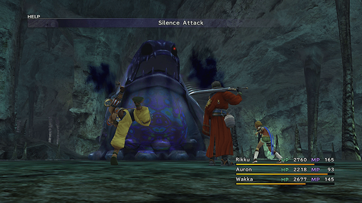 Tidus in the pools of the Mountain Cave