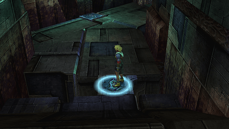 Tidus standing on a platform