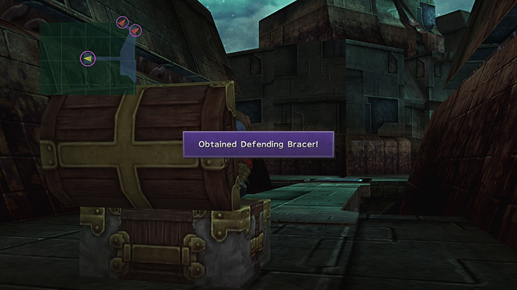 A treasure chest that contains Defending Bracer Inside Sin