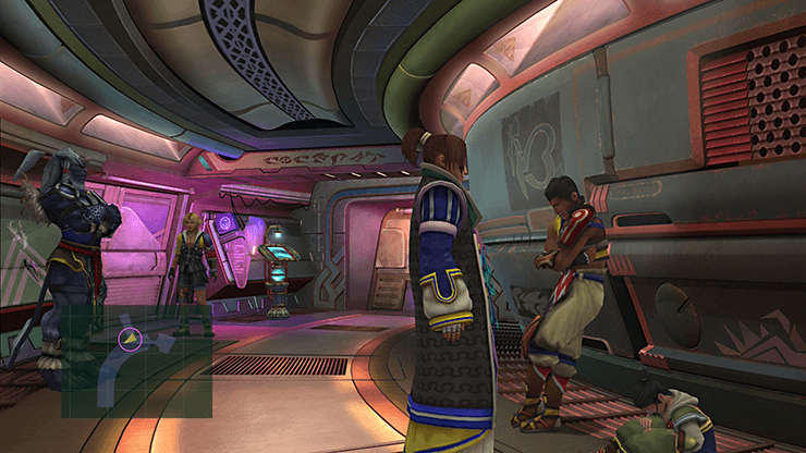 Tidus inside the corridors of the Airship