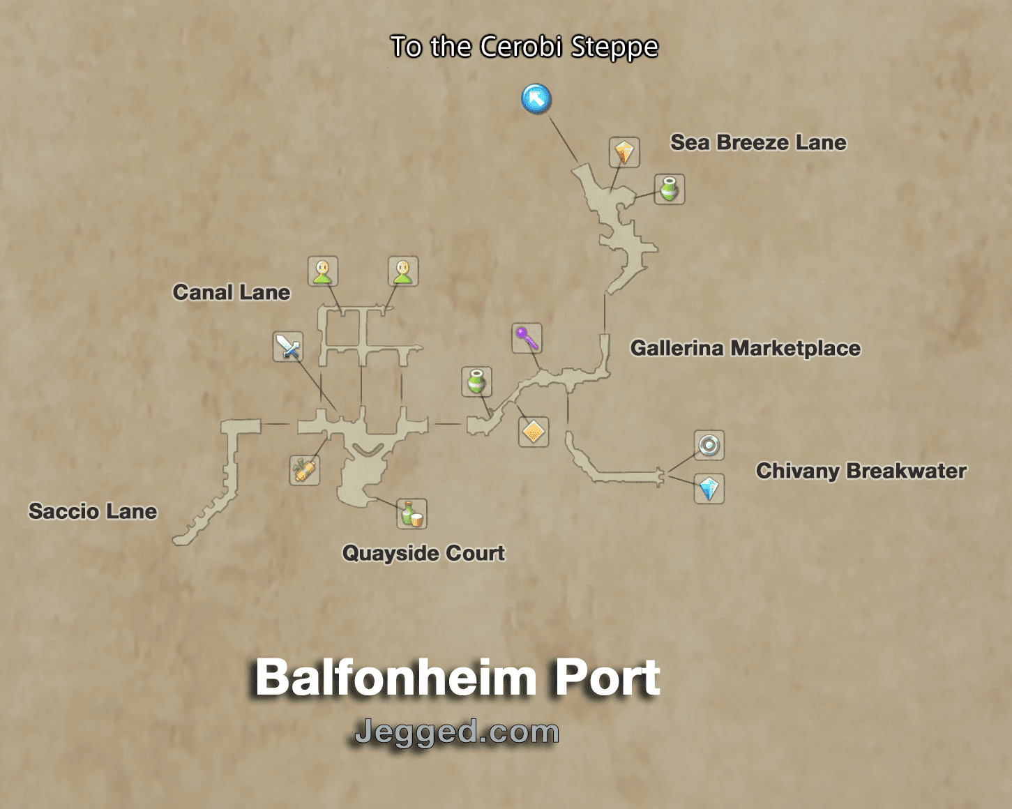 Map of the Port of Balfonheim