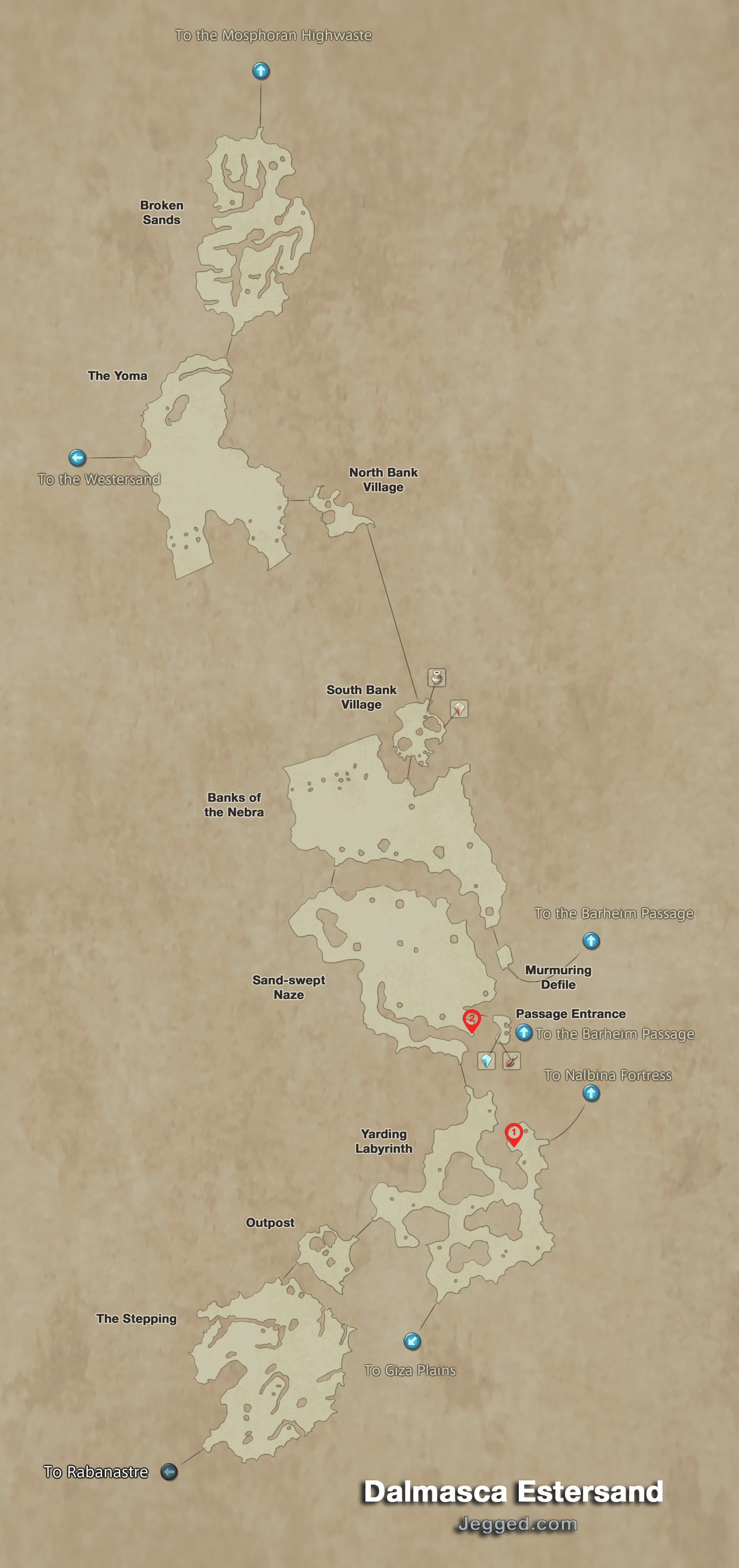 Map of the Dalmasca Estersand