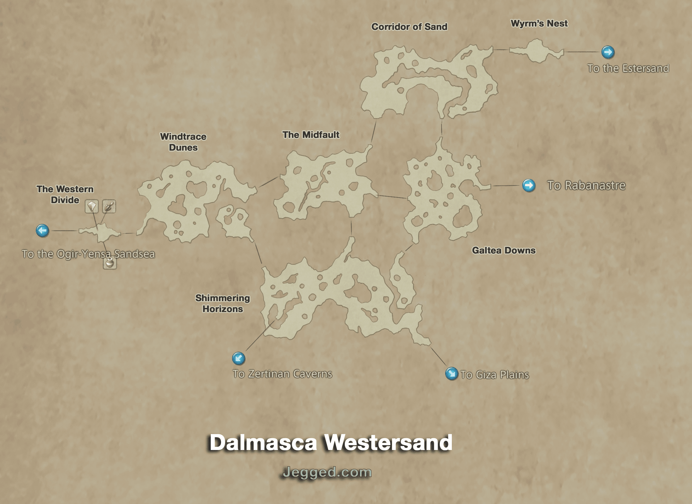 Map of the Dalmasca Westersand
