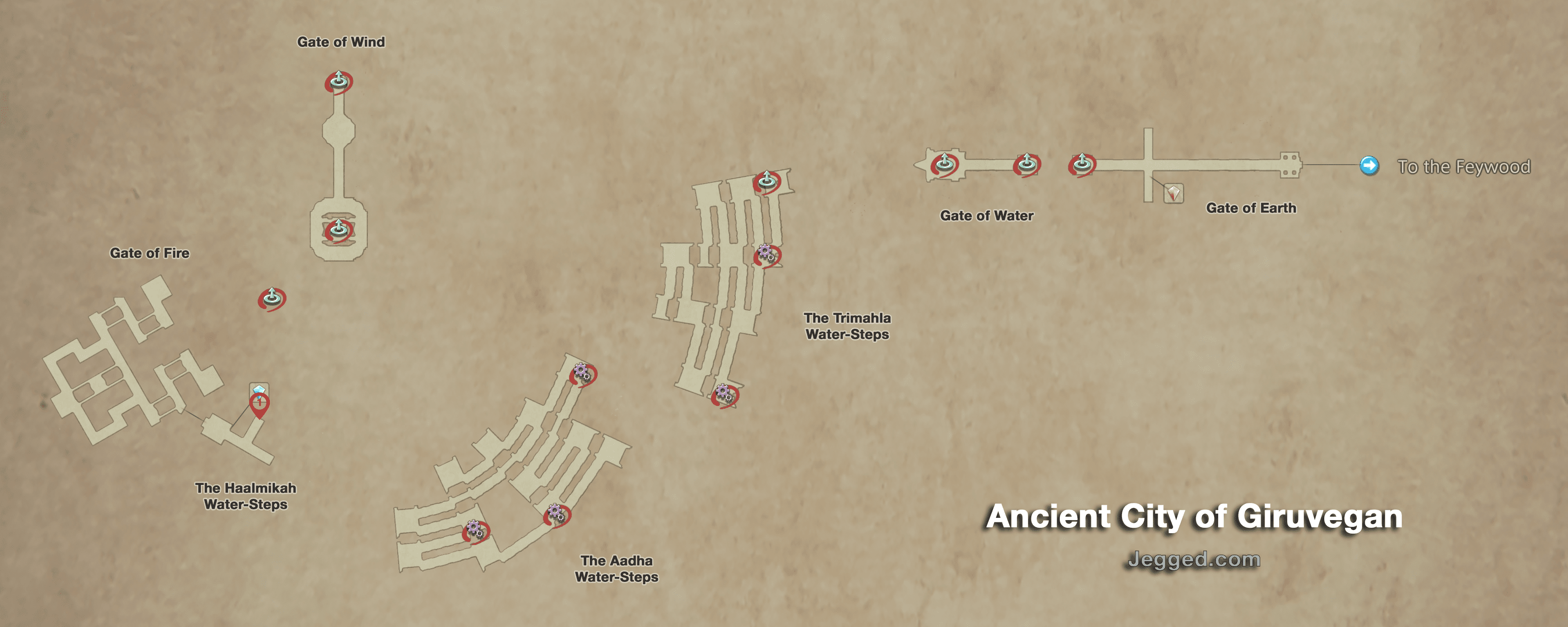 Map of the Ancient City of Giruvegan