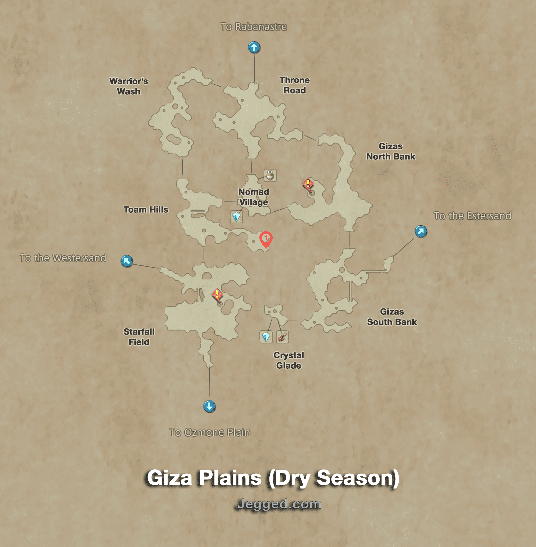 Map of the Giza Plains during the Dry Season