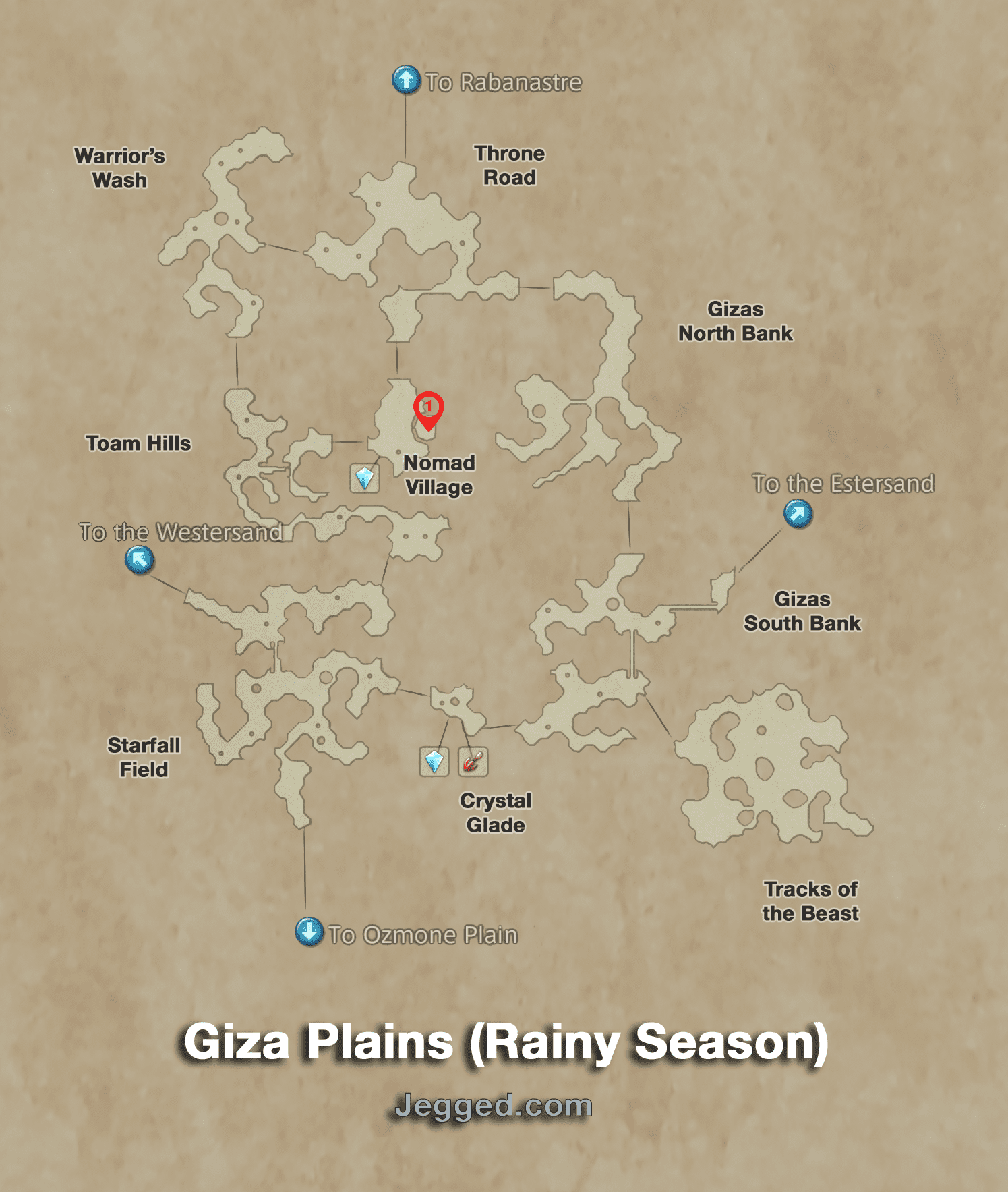 Map of the Giza Plains (Rainy Season)