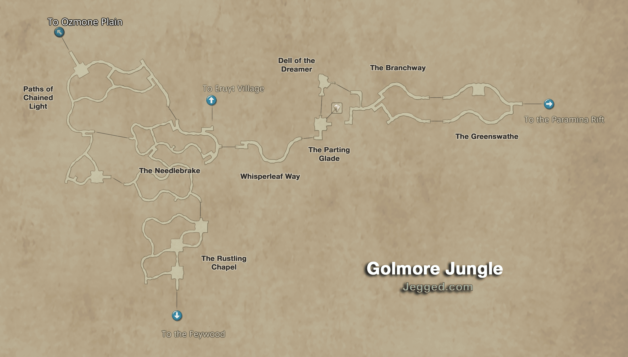Map of the Golmore Jungle