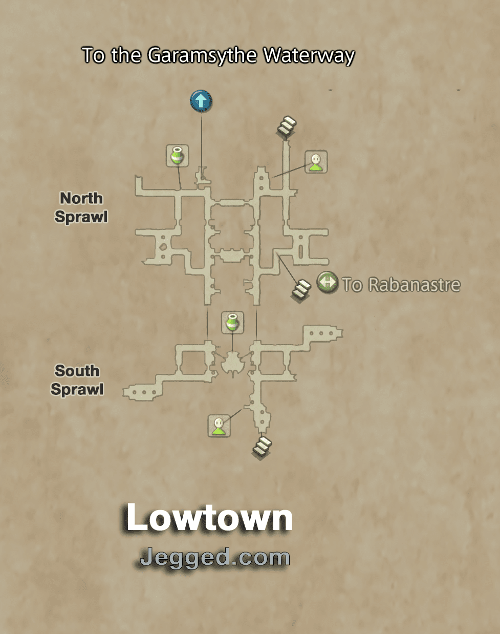 Map of Lowtown in Rabanastre