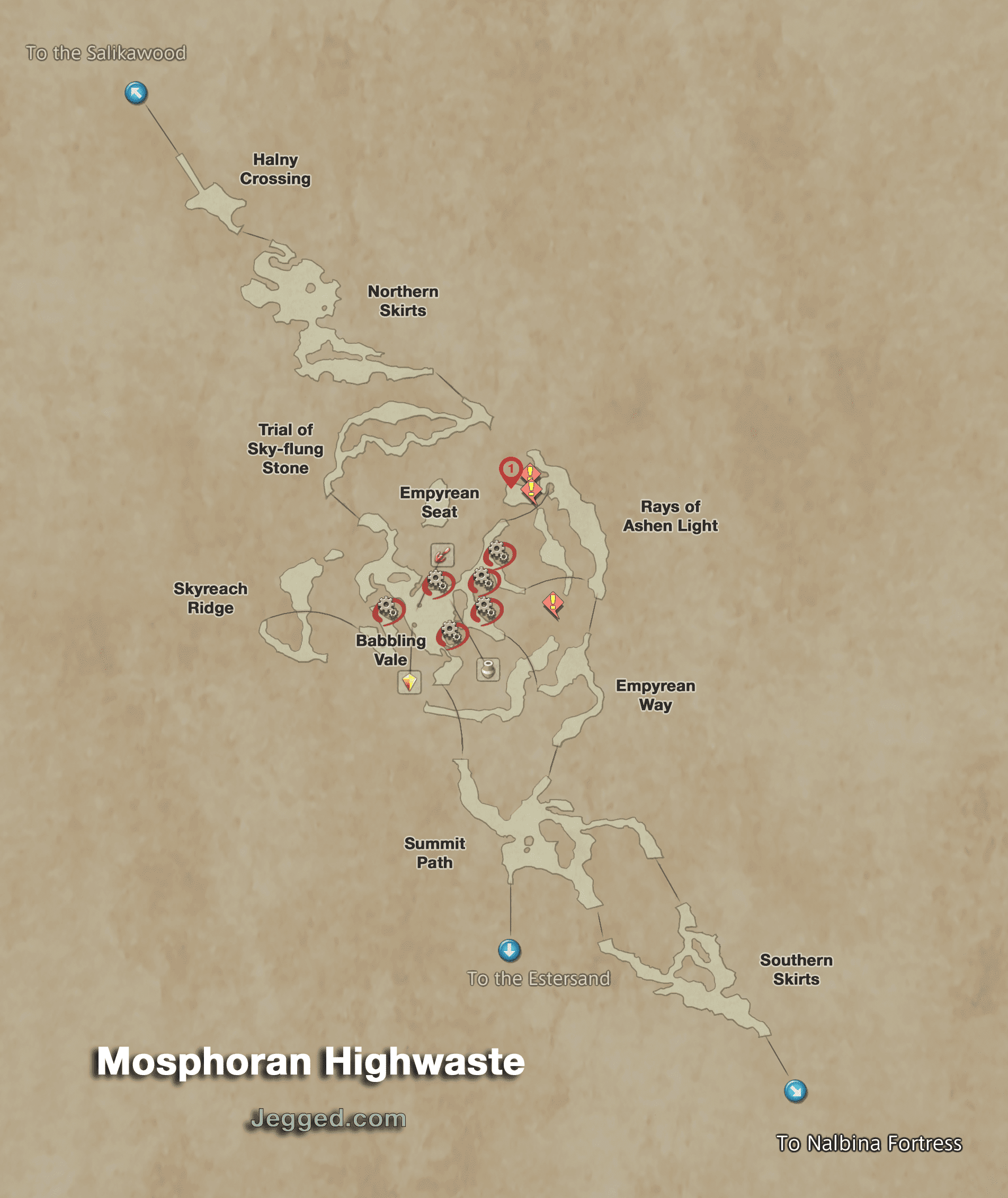 Map of the Mosphoran Highwaste