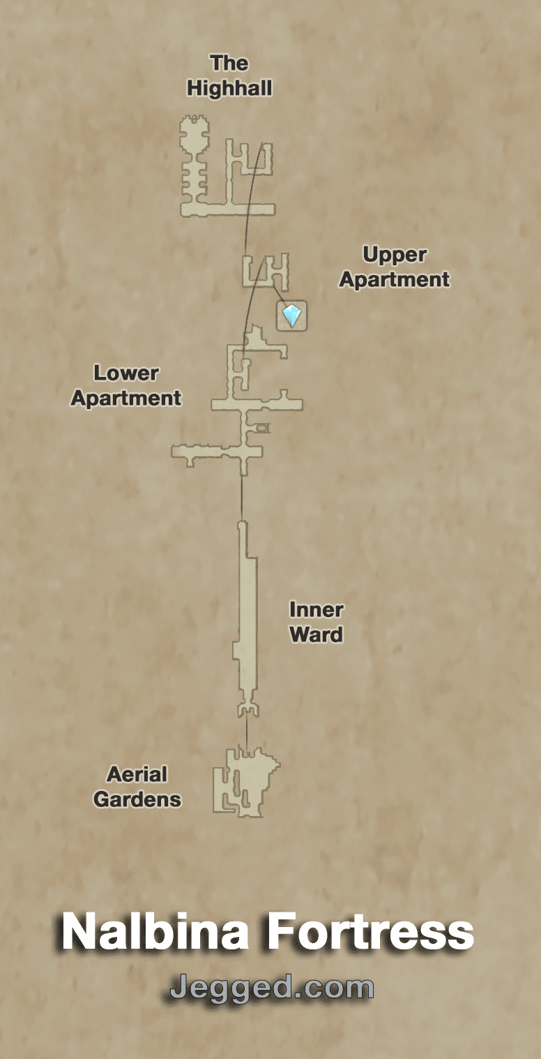Map of the Nalbina Fortress