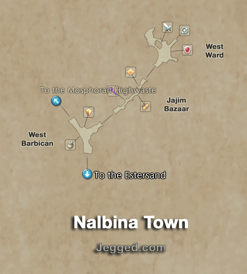 Map of Nalbina Town