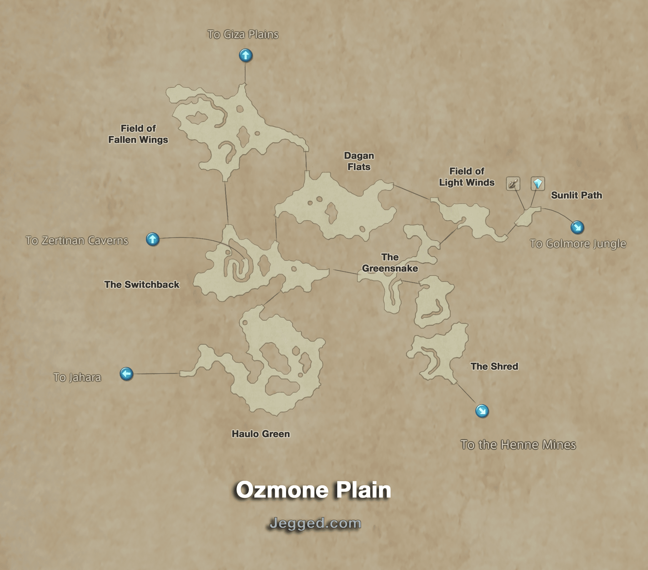 Map of the Ozmone Plain