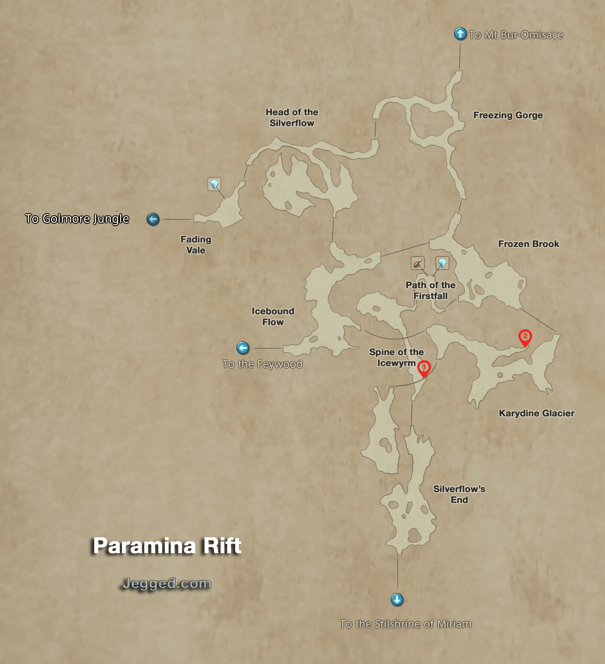 Map of the Paramina Rift