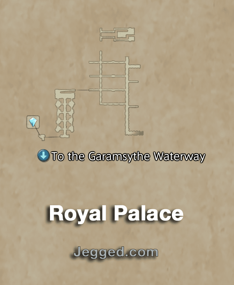 Map of the Royal Palace of Rabanastre