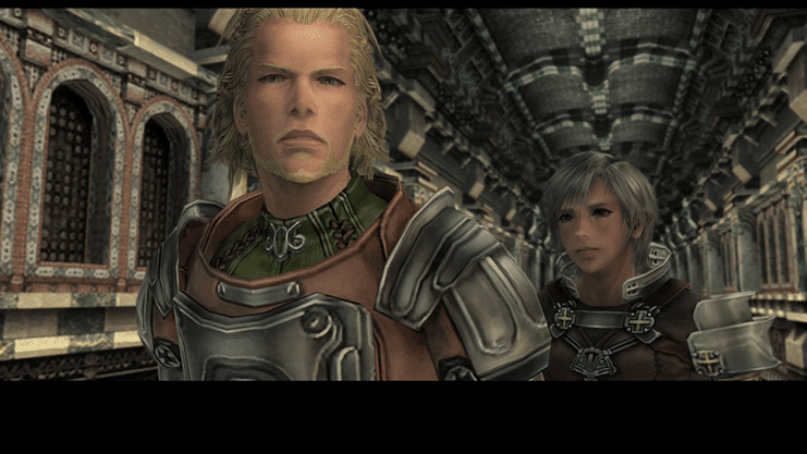 Basch and Reks entering the Nalbina Fortress cinematic