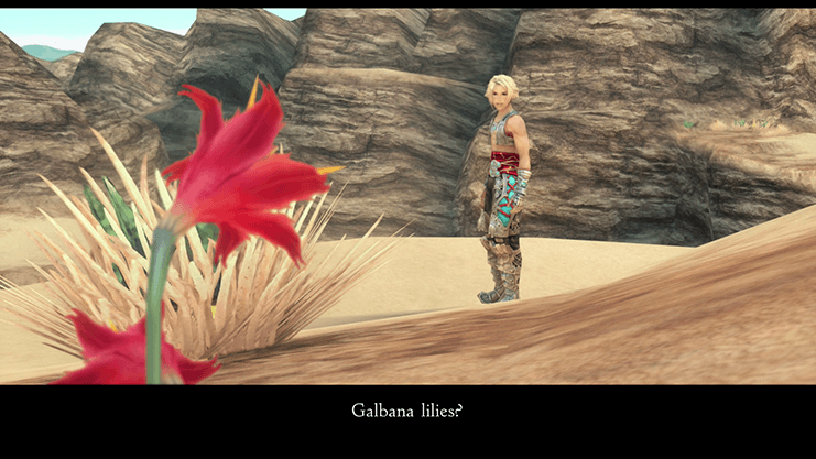 Obtaining the Galbana Lilies cinematic