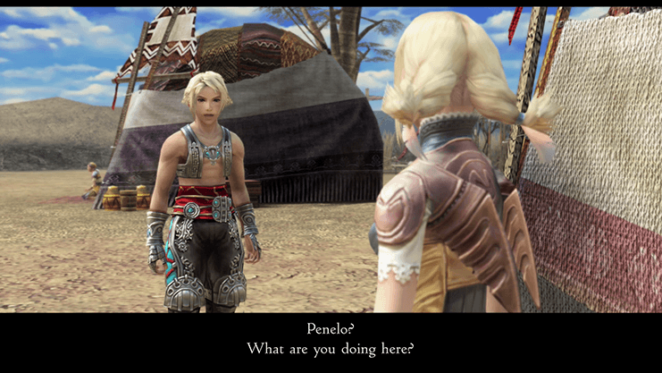 Penelo meeting up with Vaan in the Nomad Village