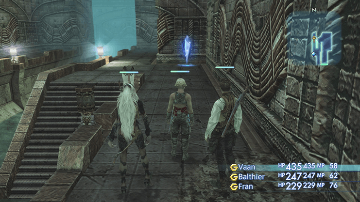 Entrance to the Garamsythe Waterway with Balthier and Fran in the party