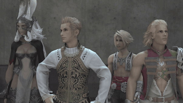 Balthier leading the team to the Strahl